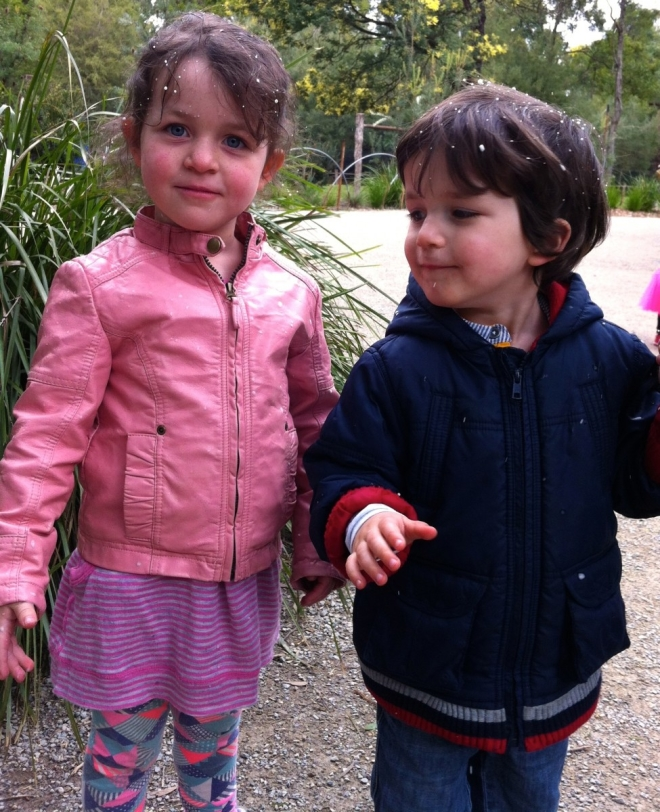 Snow fun Healesville sanctuary